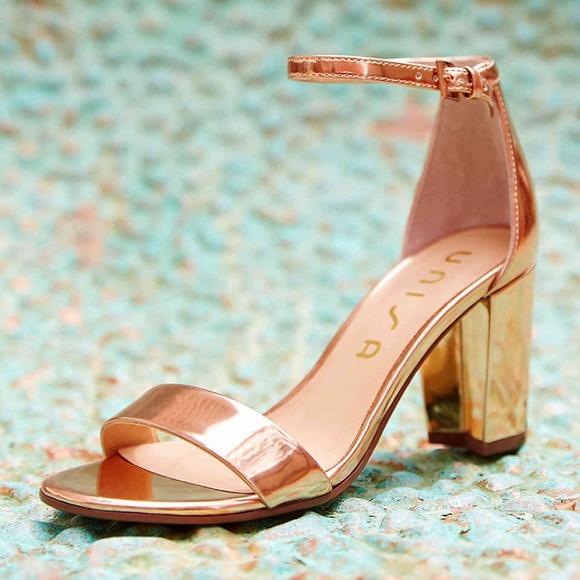 1fe3b698c50 DSW Shoes - Rose Gold Block Heel Sandal